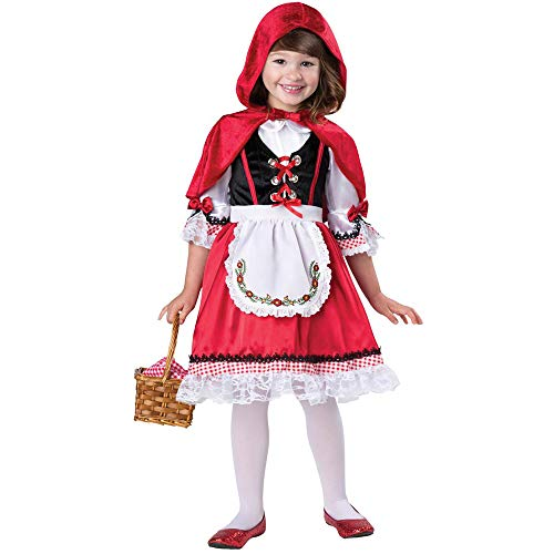Tinstree Girl's Little Red Riding Hood Halloween Cloak Cosplay Costume Make up Party Dress (XL(51-61)) ()