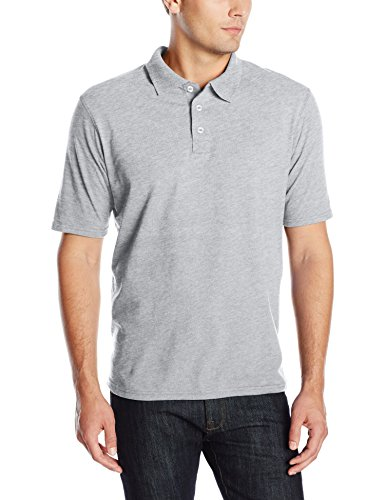 Engineer Short Sleeve T-shirt - Hanes Men's X-Temp Performance Polo, Light Steel, X-Large