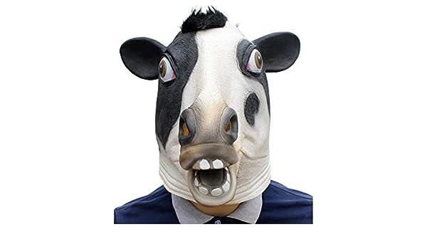 Amazon com: Gelaiken Halloween Funny ! Funny Latex Cow Mask