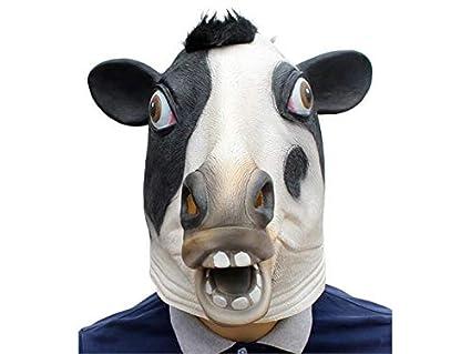 XeibD Loco de Halloween Divertida máscara látex de Vaca máscara de Terror Tricky máscara Cubierta de