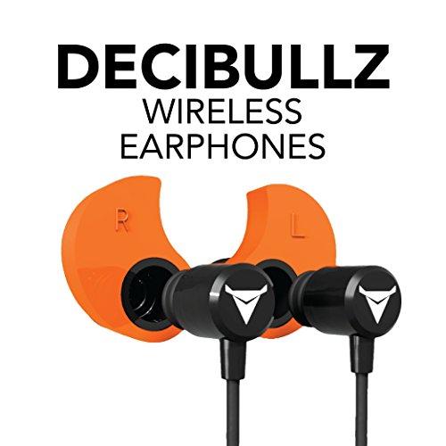 Decibullz - Custom-Fit Bluetooth Wireless Headphones, The First Custom Molded Wireless/Bluetooth Earphones (Orange) by Decibullz (Image #7)