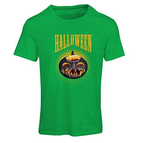 T Shirts for Women Halloween Pumpkin - Clever Costume Ideas 2017 (Medium Green Multi Color)]()