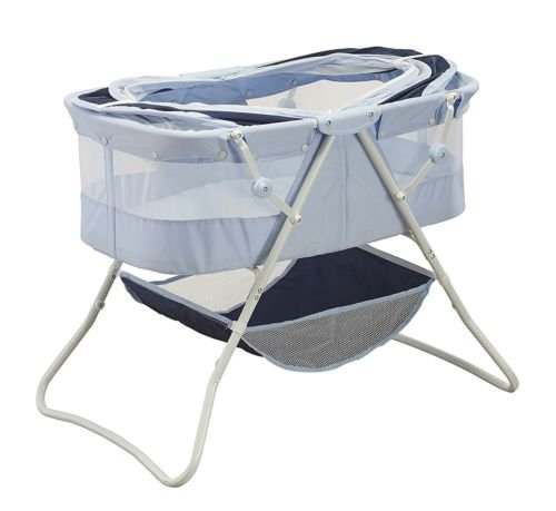 Newborn Dual Canopy Traveler Portable Bassinet Navy by Nikkycozie (Image #1)