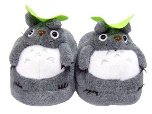 Totoro: Soft Gray Totoro Plush Slippers