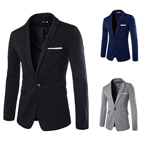 Leisure Risvolto Slim Business Uomo Bobo Button Fit Da Manica Grau Blazer Lunga 1 Elegante 88 Jacket Suit Zx7CBw