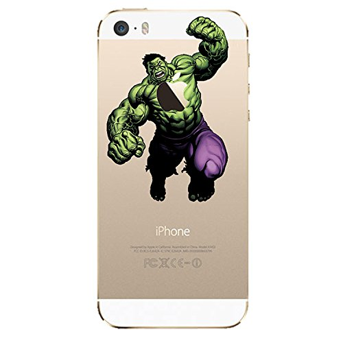 NEW DISNEY CARTOONS TRANSPARENT CLEAR TPU SOFT CASE FOR APPLE IPHONE 7 HULK