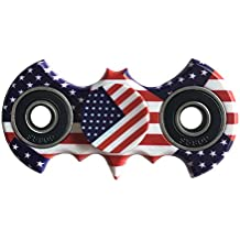 Zip Spinners- Fidget Spinner Batman Toy with Ultra Speed Deep Groove Bearings- Autism Toys Best Boredom Reducer Stress Toy Hand Spinner Fidget Toy for Kids & Adults (Bat-Flag)