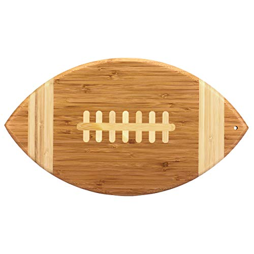 Totally Bamboo Football Shaped Bamboo Serving and Cutting Board, 14