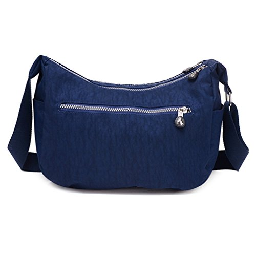 Shoulder Bag Women's Blue Shape Lightweight Navy Cross Messenger Dumpling body Bag Simple Style Nylon TianHengYi a781wqq