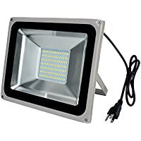 LED Floodlight with Plug Waterproof 100W 110V 6000-6500K Cool White 1PCs