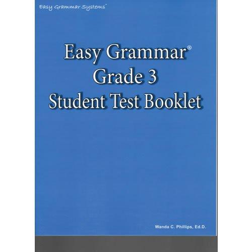 Easy Grammar 3 Test Book