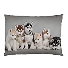 Siberian Husky Puppies Pillow Case (2 Sides)