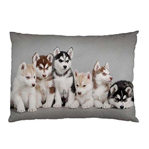 SIXSTARS Siberian Husky Puppies Pillow