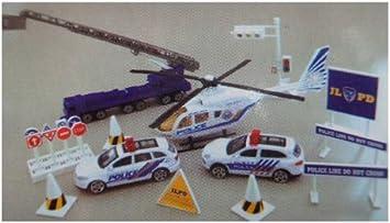 Coffret vehicules et accessoires de police 20 pi/èces