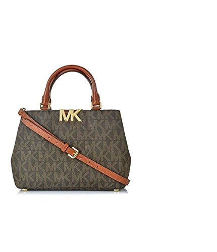 Michael Kors MK Florence PVC MD Satchel Brown, Style #35F5GRES2B by Michael Kors