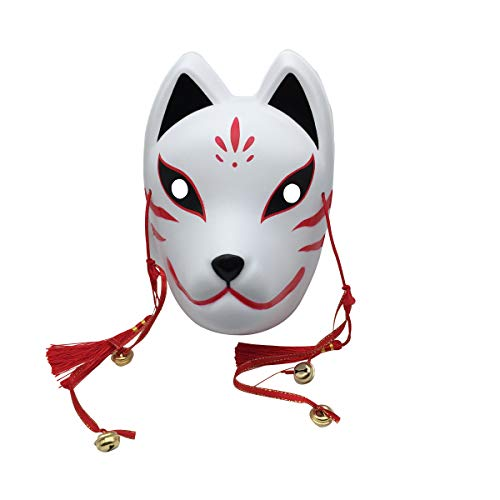 YangYong Fox Cosplay Mask for Masquerade Halloween, Japanese Kitsune Kabuki -