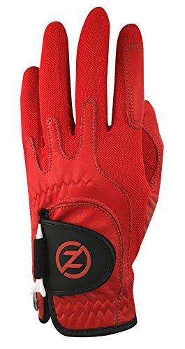 Zero Friction Male Mens Cabretta Elite, Left Hand, Red, One Size