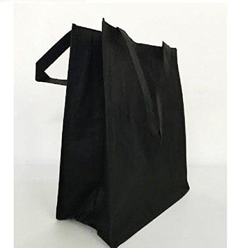 SHOPINUSA Buy Bulk (12Pack ) Large Size Non Woven Shopping Tote Bag w/Gusset 15