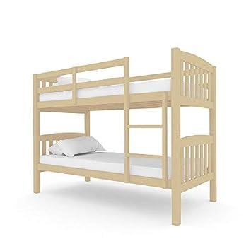 Solid Pine Timber Bunk Bed Frame Children Wooden Kids Bedroom