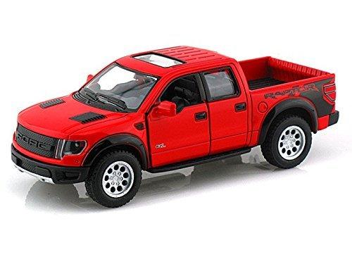 (Kinsmart 2013 Ford F-150 SVT Raptor Supercrew (RED) )