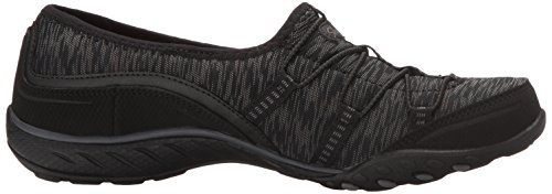 Skechers Breathe-Easy-Golden, Scarpe da Ginnastica Basse Donna Nero (Blk)