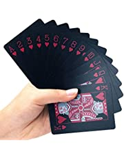 Oce180anYLV Creatieve Cool Zwart Papier Poker Speelkaarten 54 Stks/set Waterdichte Poker Tafel Board Game Magic Prop Speelkaarten