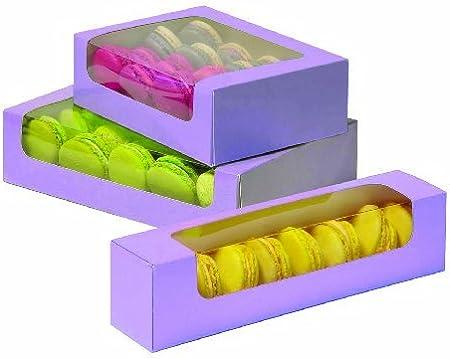 Caja para 25 Galletas o Macarons. Dimensiones: 220 x 150 x 55 mm: Amazon.es: Hogar