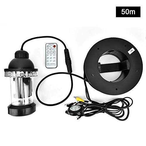 650TVL HD Underwater Camera Color Video Fish Finder with Two Level Brightness + 7 Speed Adjustment + 18pcs Bright LED Lights + 360°Rotating(50m)