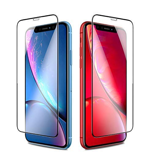 Seiaol for iPhone XR Screen Protector Tempered Glass,[3D Full Coverage] Ultra Slim Tempered Glass Film [9H Hardness] Screen Protectors for Apple iPhone xr 6.1 inch (2018),[Case Friendly] [2 Pack]