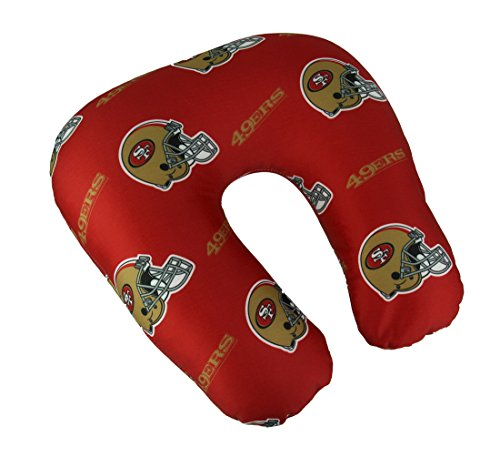 y Officially Licensed NFL San Francisco 49ers Beaded Spandex Neck Pillow ()