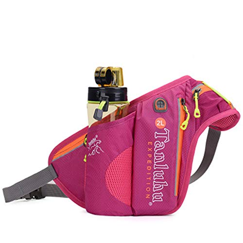 Unisex Outdoor Sports Running Oxford Solid Color Stylish Waist Pack Bag (Pink-one Size) ()
