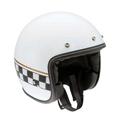 AGV RP60 Cafe Racer Helmet , Size: XL, Primary Color: White, Helmet Category: Street, Distinct Name: Multi White Cafe Racer, Gender: Mens/Unisex, Helmet Type: Open-face Helmets 110152C0002010