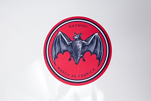 bacardi-bat-logo-round-mouse-pad