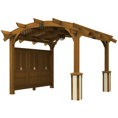 Sonoma 12 x 16 ft. Arched Wood Pergola - Redwood -  Outdoor Greatroom, SONOMA1216-R