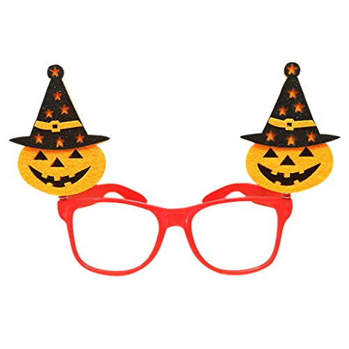 Shaoge Halloween Pumpkin Bat Ghost Tricky Glasses Eyewear Costume Prank Props ()