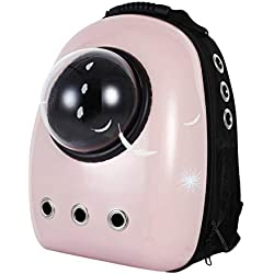 Loyasun Capsule Cat Backpack Space Pet Bubble Window for Kitty Puppy Chihuahua Small Dog Carrier Crate Outdoor Travel Bag Cave