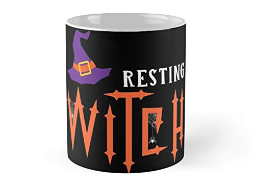 Army Mug Resting Witch Face Halloween Shirts For Women - 11oz Mug - Features wraparound prints - Dishwasher safe - Made from Ceramic - Best gift for family friends