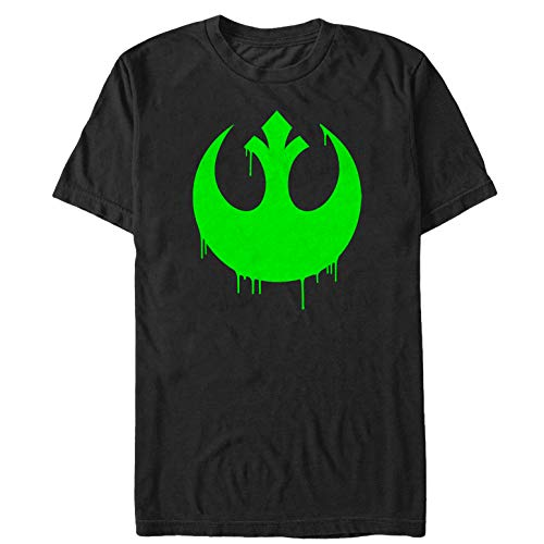 Star Wars The Force Awakens Men's Halloween Rebel Logo Drip Black T-Shirt -