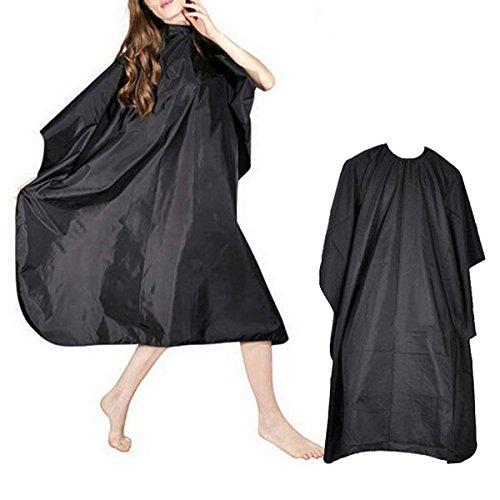 [TRADERPLUS Black Hair Cut Hairdressing Hairdressers Barbers Cape Gown] (Salon Girl Costumes)