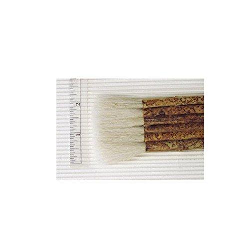 Yasutomo Sheep Hair Short Bamboo Handle Hake Brush, 1-7/8 in