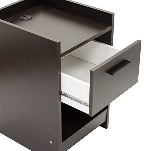 home, kitchen, furniture, bedroom furniture,  nightstands 6 image Homestar Central Park 1 Drawer Nightstand, 15.98 in USA