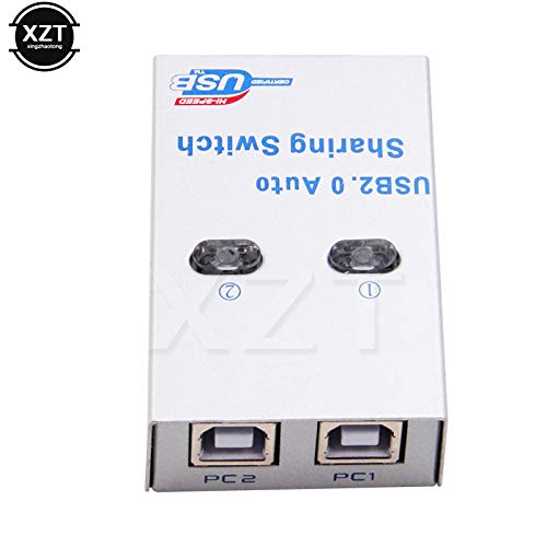 Computer Cables USB 2.0 hub USB Splitter Auto Sharing Switch Computer Peripherals for 2 PC Computer Printer for Office Home Use Newest Cable Length: 2 Ports