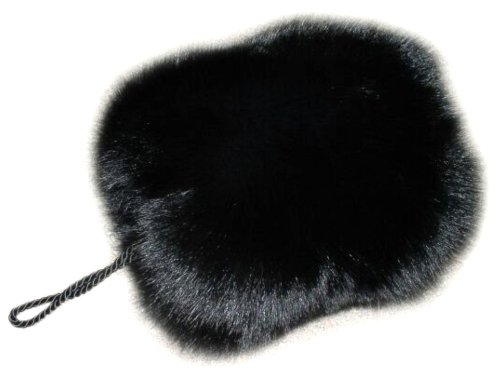 Top Fox Barrel Hand Muff in Black Color by FursNewYork