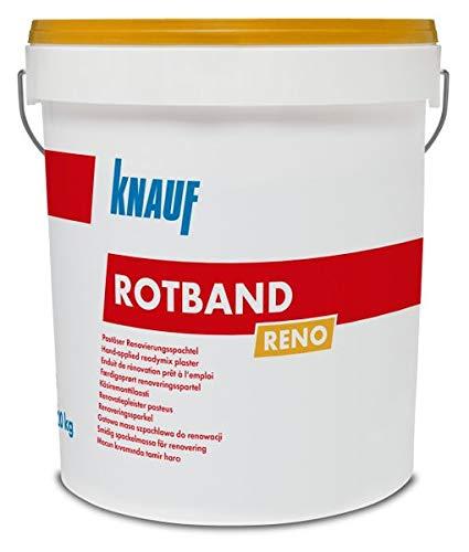 Knauf Rotband Reno Renovierspachtel 20kg - Dü nnlagiges Verputzen von ebenen Untergrü nden - Scheibenputz Rillenputz Gipsputz Knauf Gips KG