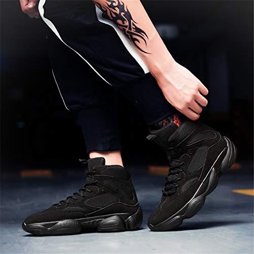 Da Yan Antiscivolo Autunno Forma Alte Scarpe Gomma amp; Mesh T A In Inverno Nero Sneakers Uomo Basket Di rra5qwUIx