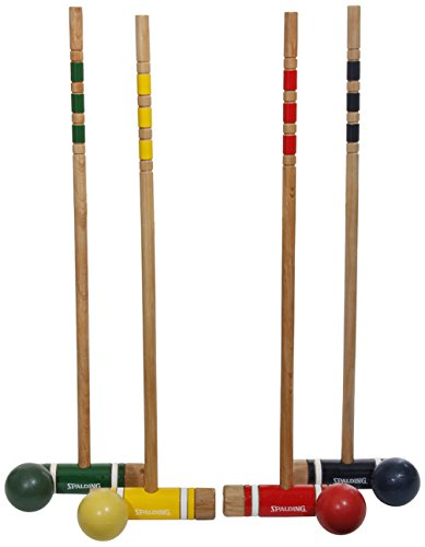 Spalding 4-Player Recreational Series Croquet Set by Spalding Lawn Games