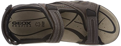 Geox Men's Uomo Strada D Ankle Strap Sandals Brown (Dk Coffee) y4wOLjaM