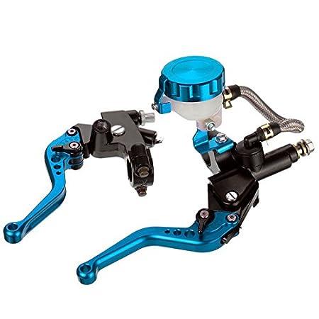 KATUR 7//8 Motorcycle Front Brake Clutch Handle Levers Adjustable Brake Master Cylinder For Honda CBR250R CBR300R CBR500R CB500F//X 2013-2016 1 Set Black