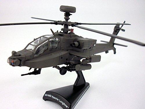 Ah 64 Longbow (Boeing AH-64 Apache Longbow US Army 1/100 Scale Diecast Metal)