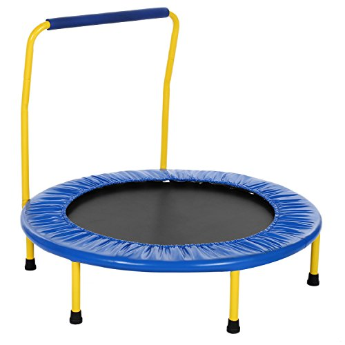 "Peatao 36"" Mini Trampoline Portable Foldable Rebounder Trampoline with Handle and Padded Frame for Kids Age 3+ (US Stock)"